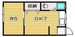 関山ビル[4階]の間取り