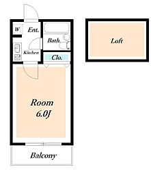 ローズアパートQ64[2階]の間取り