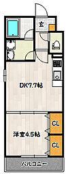 神戸市西神・山手線 上沢駅 徒歩7分の賃貸アパート 1階1DKの間取り