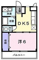 近鉄南大阪線 恵我ノ荘駅 3.2kmの賃貸マンション 3階1DKの間取り