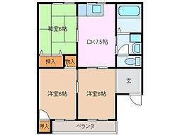 橘ハイツ 2[2階]の間取り