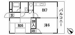 小田マンション(RW)[103号室]の間取り