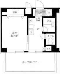 カプリーヌ栄[6階]の間取り