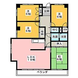 サンシャイン近藤[4階]の間取り