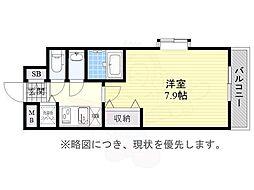 JR東海道・山陽本線 兵庫駅 徒歩14分の賃貸マンション 3階1Kの間取り