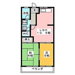 エスポワール柳森[2階]の間取り