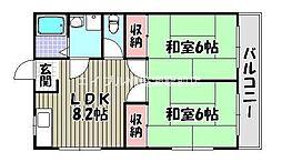 玉屋コーポ[2階]の間取り