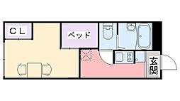 レオパレスポラール壱番館[107号室]の間取り