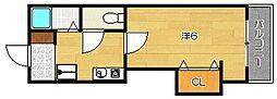 大阪府茨木市中総持寺町の賃貸アパートの間取り