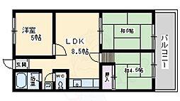 大阪モノレール本線 少路駅 徒歩29分の賃貸マンション 2階3LDKの間取り