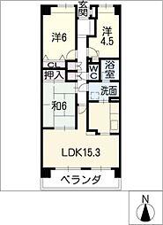 勝川パークホームズ703[7階]の間取り