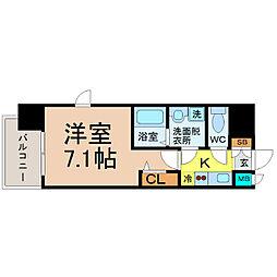 プレサンス名古屋STATIONキュオル[2階]の間取り