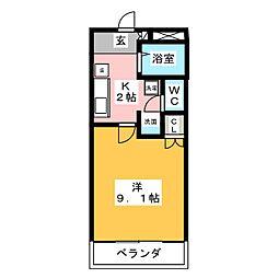 セントラルハイツO・M[2階]の間取り