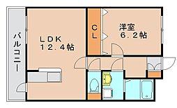 グランシャリオ箱崎2[3階]の間取り
