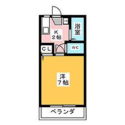 メゾンミカタE[2階]の間取り