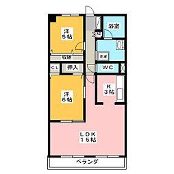 岡田マンション[3階]の間取り
