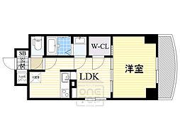 ノルデンタワー新大阪アネックス 18階1LDKの間取り