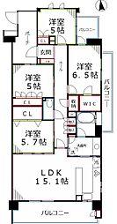 東京都武蔵野市桜堤2丁目の賃貸マンションの間取り