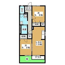 フォーレスIKEDA B棟[1階]の間取り