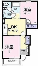 レジデンス久保田[101号室]の間取り