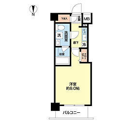 東武東上線 北池袋駅 徒歩8分の賃貸マンション 8階1Kの間取り