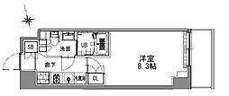 つくばエクスプレス 浅草駅 徒歩16分の賃貸マンション 6階1Kの間取り