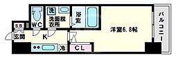 エスリード大阪上本町ブランシュ 11階1Kの間取り