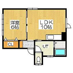 野口アパート[2階]の間取り