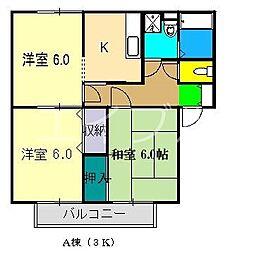 タウンコートA棟[1階]の間取り