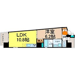 愛知県名古屋市中区千代田4丁目の賃貸マンションの間取り