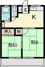 小平荘[103号室]の間取り