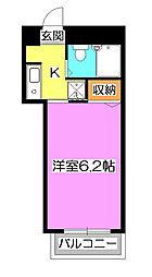 シャイン91[6階]の間取り