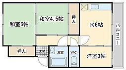 富士見ビル[303号室]の間取り