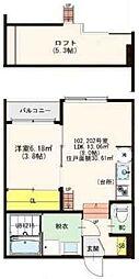 高井田中3丁目SKHコーポ[1階]の間取り