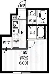 MIJAS NISHIOGIKUBO 1階1Kの間取り