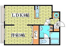 R−FREE真栄21[1階]の間取り