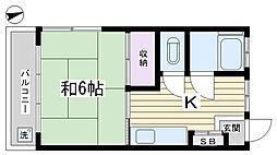 中里公園マンション[203号室]の間取り