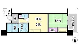 兵庫県神戸市長田区明泉寺町1丁目の賃貸マンションの間取り