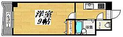 No.35サーファーズプロジェクト2100小倉駅 14階1Kの間取り
