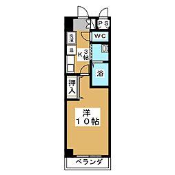 ザ・ロイヤルトップ名駅西[9階]の間取り