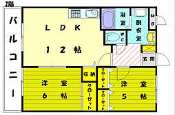 ピュアロイアル3[1階]の間取り