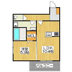京都府京都市伏見区横大路中ノ庄町の賃貸アパートの間取り