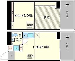 是空NANBANISHI[504号室]の間取り