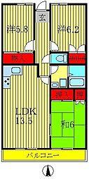 ロイヤルパレス天王台[5階]の間取り