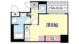アスヴェル神戸元町2[604号室]の間取り