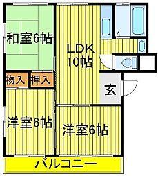 第三関東マンション[4階]の間取り