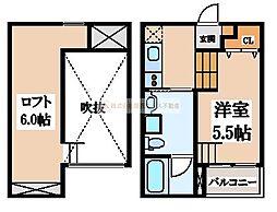 大阪府堺市西区浜寺船尾町東1丁の賃貸アパートの間取り