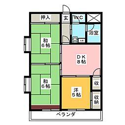 銀杏町レジデンス[2階]の間取り