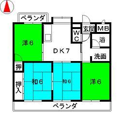 第2横吹小菅ビル[1階]の間取り