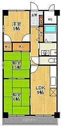 ロイヤル武庫之荘2番館[2階]の間取り